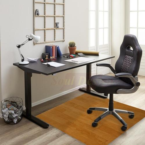 protector bajo escritorio para pisos pvc 0,60x1,00 mt vinilo