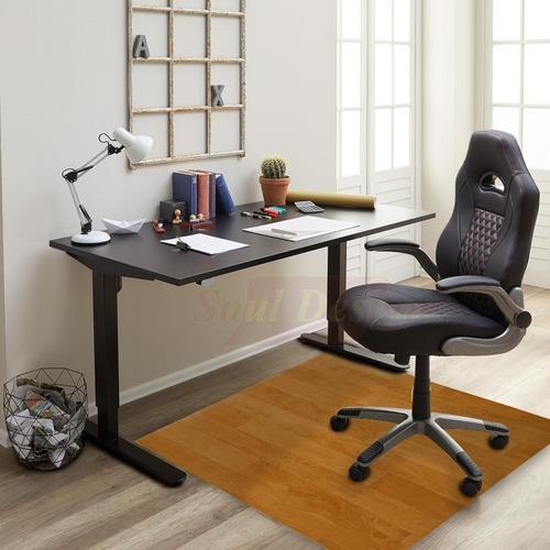 protector bajo escritorio para pisos pvc madera 60x100cm