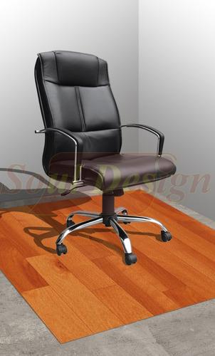 protector bajo escritorio para pisos pvc madera vinilo envio