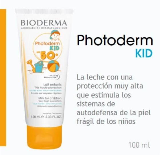 2ba5ea30b27b Protector Bioderma Photoderm Kid Spf 50+ Leche Solar Niños ...