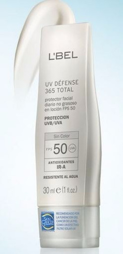 protector bloqueador solar rostro lbel uvb/uva defense fps50