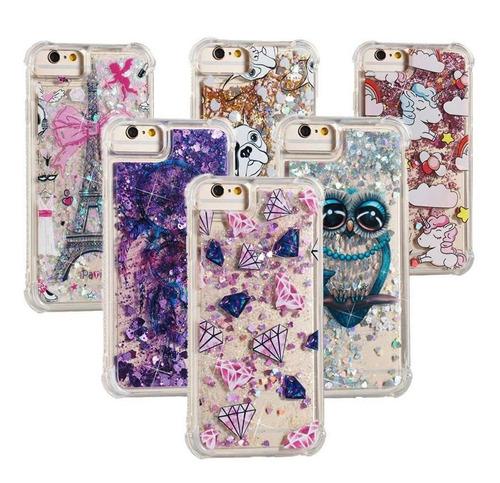 protector brillantina liquida con diseños iphone 5 - 5s  5se