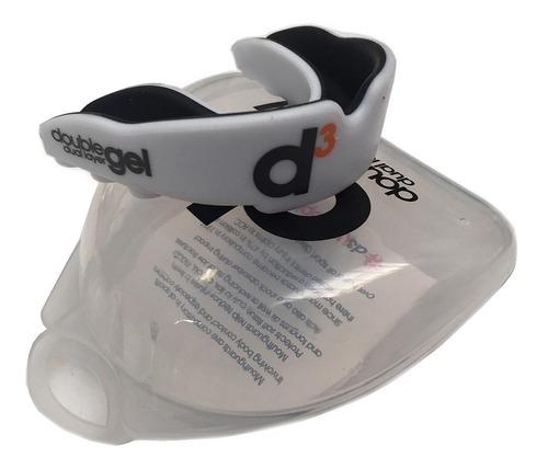 protector bucal d3 profesional doble gel rugby adulto y jr