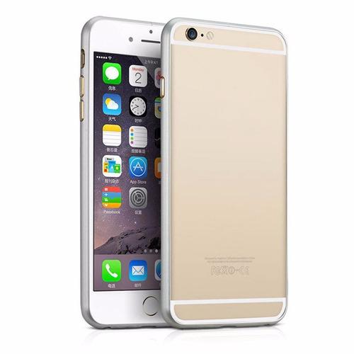protector bumper iphone 6/6s/6plus en aluminio gratis screen