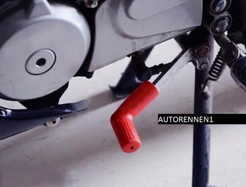 protector calzado para moto palanca cambios velocidade verde