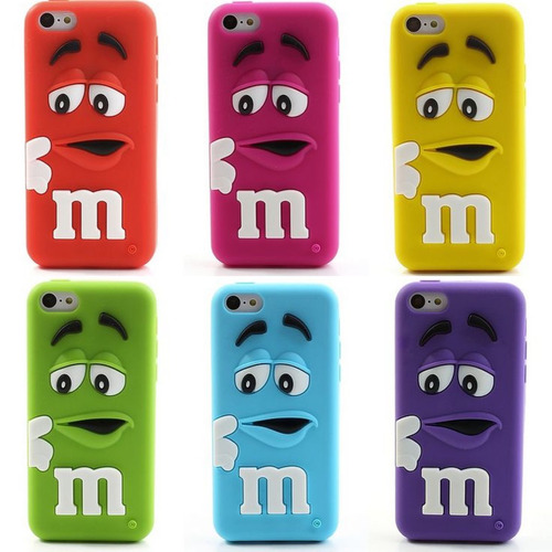 protector carcasa iphone 6 m&m 3d silicona case