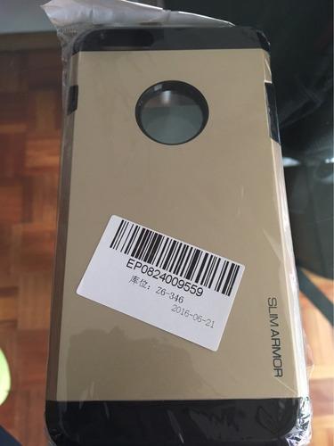protector carcasa iphone 6 plus color gold oro 3 en 1