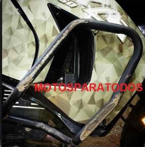 protector carenaje motor klr 650 mototech defensas mataperro