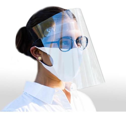 protector careta facial cubrebocas 25 piezas de fabrica