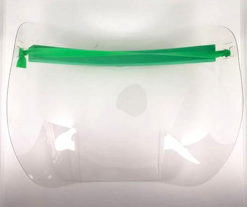 protector careta facial d grafeno 3 capas pet lote 20 piezas