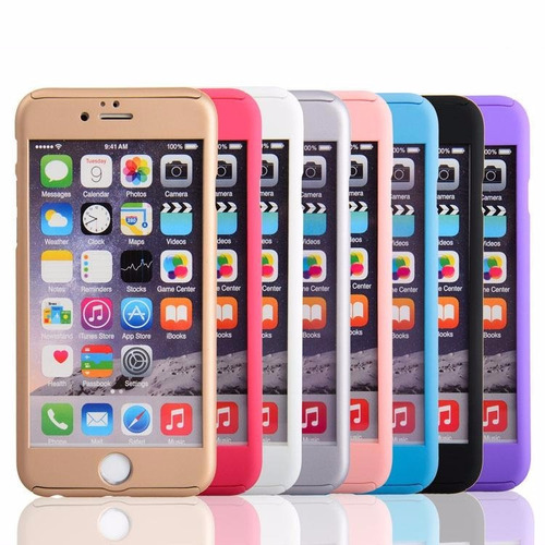 protector case 360º + mica iphone 6, 6 plu, 7, 7 plus oferta