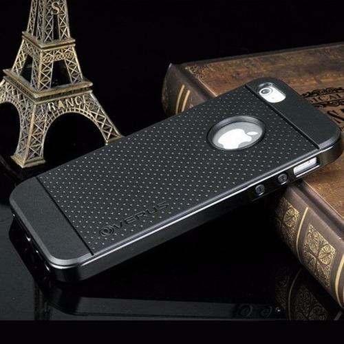 protector case hybrido tpu y bumper iphone 6s + mica vidrio