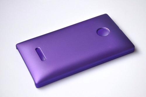 protector case nokia lumia 532 polycarbonato antihuellas