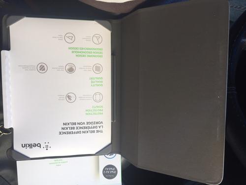 protector case para ipad air/air 2 belkin case negro/gris