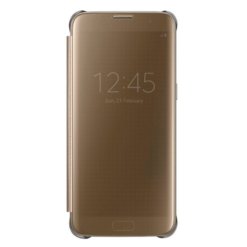 protector clear view cover oro galaxy s7 acce samsung
