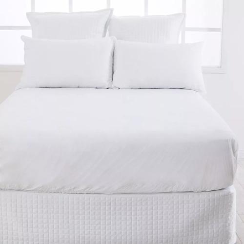 protector colchón blanco basic doble