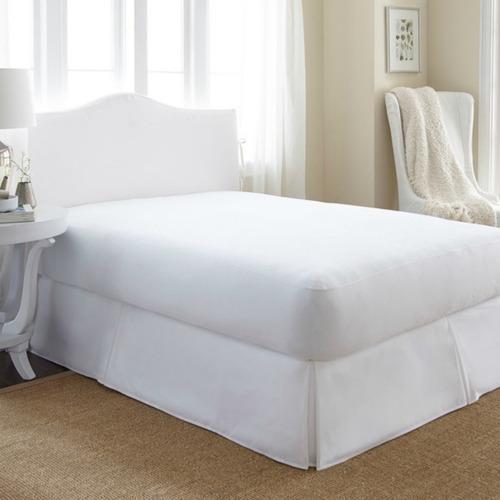 protector colchón blanco hotel king