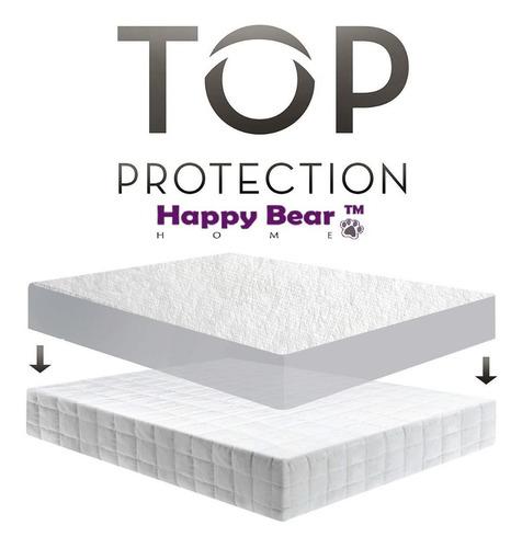 protector colchón blanco soft doble
