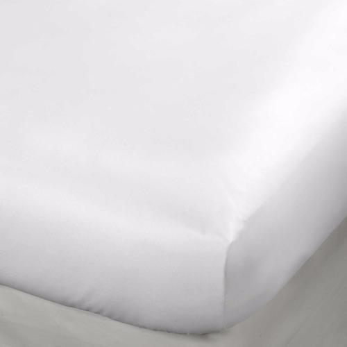 protector colchón impermeable cama king blanco alto 40cms