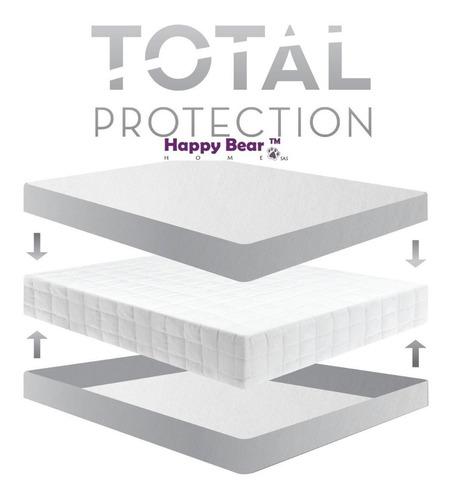 protector colchón total queen impermeable  antiácaros