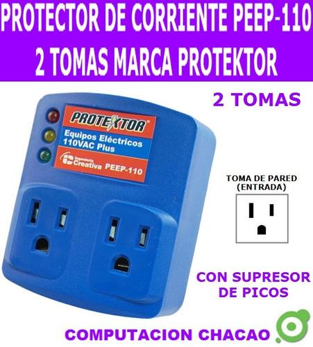 protector corriente 110v peep-110 2 tomas supresor picos ccc