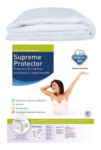 protector cubre colchón spring air impermeable matrimonial