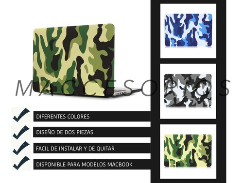 protector de acrilico camuflado - macbook pro air retina