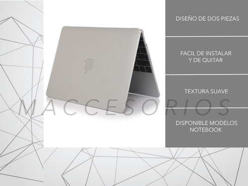protector de acrilico matte frosted - macbook air 13