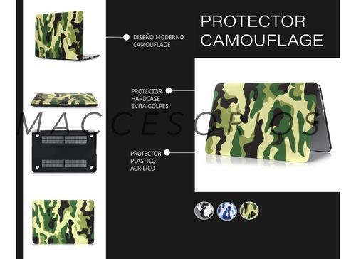 protector de acrilico resistente camuflado - macbook air 11