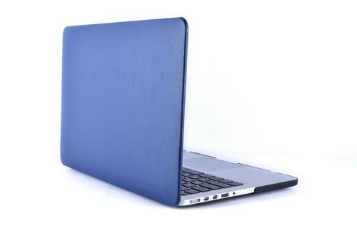 protector de acrilico textura ecocuero - macbook air 11