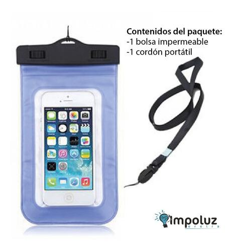 protector de agua celular impermeable paquete 5und / impoluz