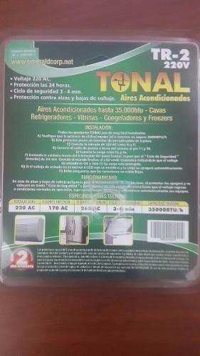 protector de aires 220v tr-2 emerald hasta 35000btu bornera