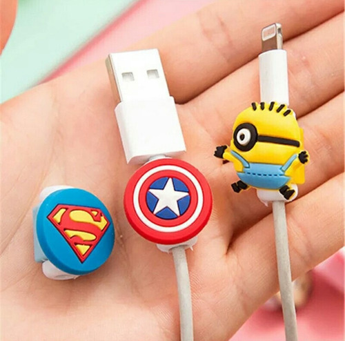 protector de cable iphone dibujos animados android x mayor