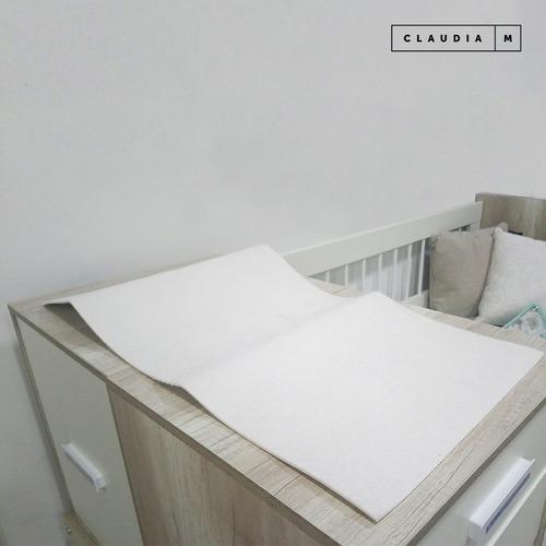 protector de colchón cuna de toalla y goma claudia muebles