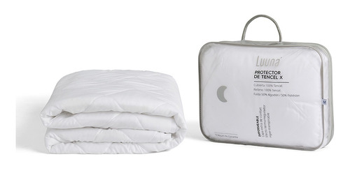 protector de colchón luuna tencel x, capitonado, individual