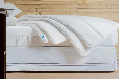 protector de colchón matrimonial capitonado e impermeable