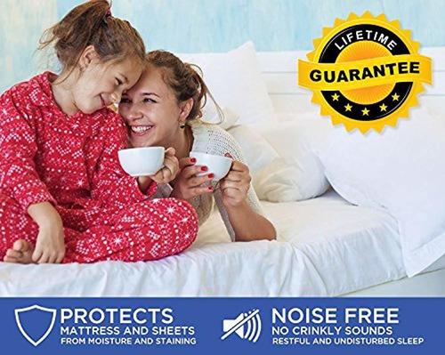 protector de colchón resistente al agua  funda de cama...