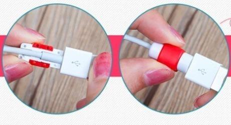 protector de colores para cables (cargadores, usb, otros)