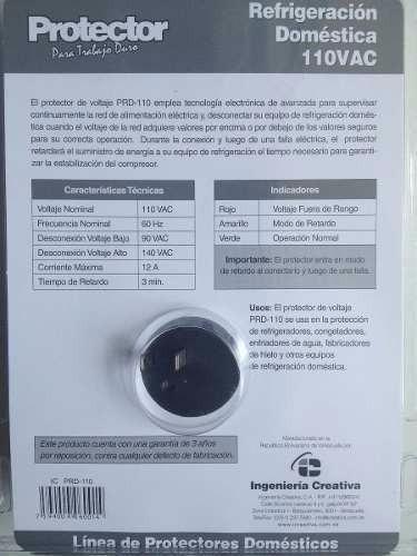 protector de corriente nevera o refrigeracion electricos