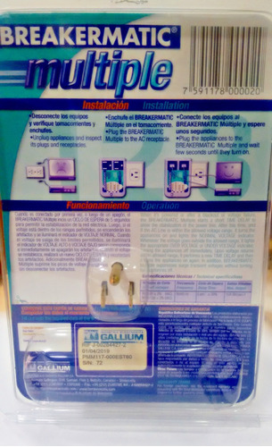 protector de equipos electrónicos breakermatic
