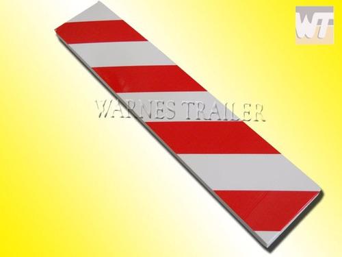 protector de goma p/ pared ideal estacionamiento rojo/blanco