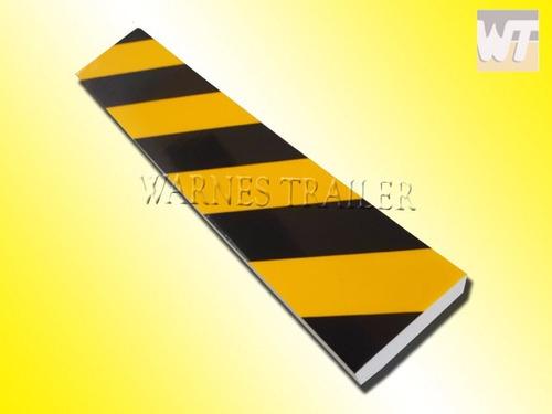 protector de goma para pared  estacionamiento negro/amarillo