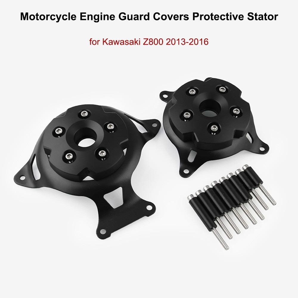 QYWSJ Cubierta del Estator del Motor de la Motocicleta Protector del Motor para Kawasaki Z750 Z800 2013-2017 Protector de Protecci/ón Lateral