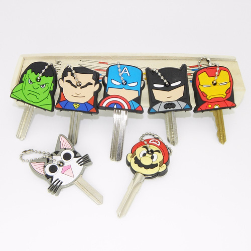 protector de llaves animado super heroes marvel y dc comics.