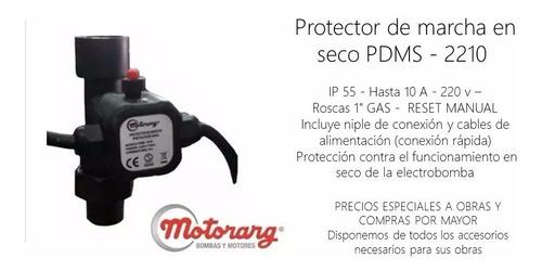 protector de marcha por falta de agua motorarg pdms-2210