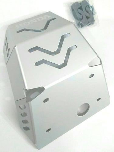 protector de motor, pechera honda  xr 150 en aluminio