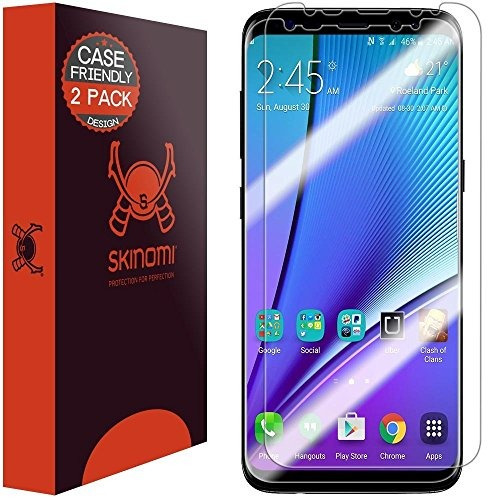 protector de pantalla galaxy s8 plus [paquete de 2] [caso]