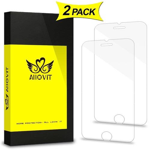 protector de pantalla iphone 7, paquete de 2  + envio gratis