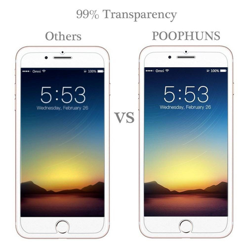 protector de pantalla para iphone 7 plus, poo + envio gratis