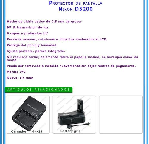 protector de pantalla para nikon d5200 lcd